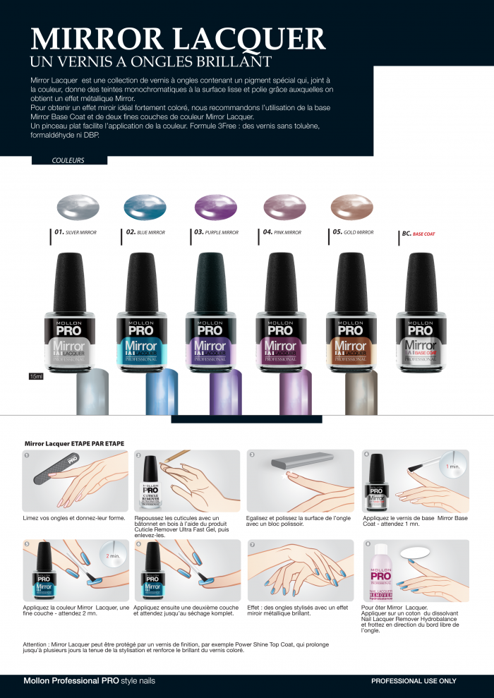Mollon PRO France Vernis effets mirroir